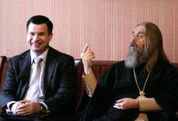 Председатель ОВЦС РСЕХБ пресвитер В.К.Власенко встретился с митрополитом Тульским и Егорьевским Алексием