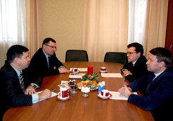 Встреча первого заместителя председателя РС ЕХБ С.Ю. Сипко с архиепископом Евангелическо-Лютеранской Церкви в России Д. Б. Брауэром