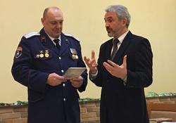 Атаман казаков поздравил с Рождеством Христовым баптистов в их Доме молитвы