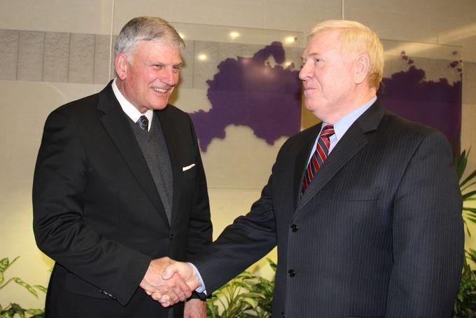 Председатель РСЕХБ А.В. Смирнов встретился со всемирно известным баптистским евангелистом Франклином Грэмом