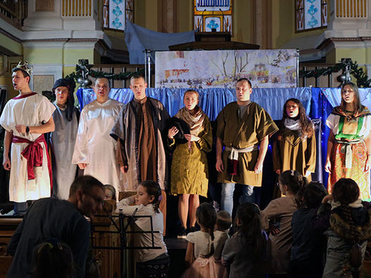 Фоторепортаж о Рождественском концерте в Московской центральной церкви ЕХБ