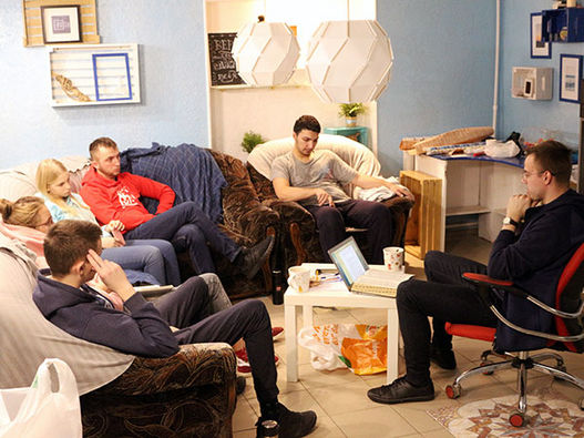 Фоторепортаж о встрече Нового 2020 года молодежью Московской центральной церкви ЕХБ